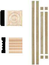 House Of Fara 3/4x3-In Hardwood Fluted Window Trim Set Interior Casing Moulding