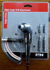 P&N Right Angle Driver Drill Attachment by Sutton Includes Bits