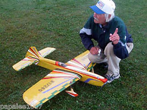 "Model Airplane Plans (UC): JUNAR 58"" Stunt for Piped .40 Engine by Bill Werwage"