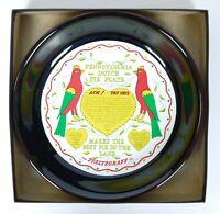 NOS Pfaltzgraff Pennsylvania Dutch Pottery Pie Plate Best Pie Baking Stoneware.