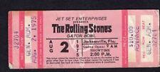 1975 Rolling Stones Eagles Chaka Khan J. Geils Unused Concert Ticket Gator Bowl