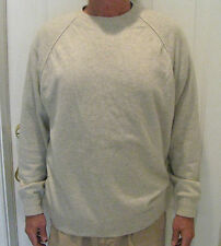 PETER SCOTT Light Gray 100% Cashmere Crew - Neck Sweater Size 46