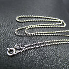 GENUINE 925 Sterling Silver 1.5MM Ball Beads Chain Necklace for Pendant Stunning