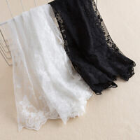 1 Meter 40cm Wide Lace Floral Trim Embroidery Mesh DIY Edging Sewing Materials