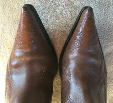 Guess By Marciano Punk Brown Womens Rockabilly Western Cowboy Boots Sz 7.5 M