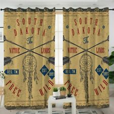 South Dakota Wild Dreamcatcher Free Window Living Room Bedroom Curtains Drapes