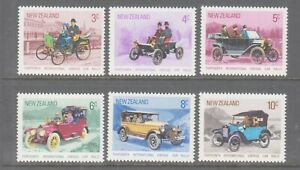 New Zealand 1972 Vintage Car Rally  mint unhinged set 6 stamps.