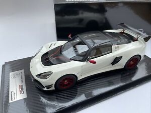 LOTUS EXIGE 380 CUP road car 2018 Metallic white 80 Only 1:18 Tecnomodel 18-112C