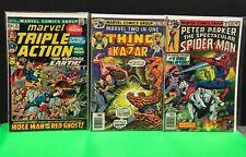 Peter Parker No. 25 (VF) Marvel Team Up 16 Ka-Zar (F) Marvel Triple Action 6 VG