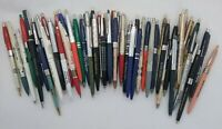 Vintage LOT of 50+ Advertising Ballpoint Clicker Pens UNTESTED AS IS