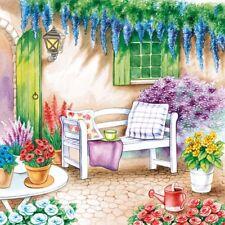 2 Paper Napkins for Decoupage / Parties / Weddings - Garden Seat