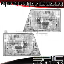 Right and Left Side Headlight PAIR For 1992-1996 Ford E-150//250//350 Econoline