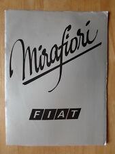 FIAT 131 MIRAFIORI orig 1976 UK Mkt Large Format Prestige Sales Brochure