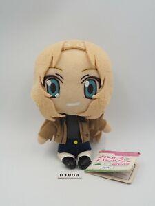 "Girls und Panzer B1808 Kei Casual Kay Furyu Strap Mascot Plush 6"" Toy Doll Japan"