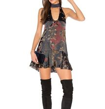 Free People Lady Love silk-blend dress tunic top Sz L NTW Free Shipping!