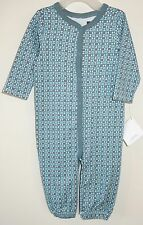 NWT ~ Tea Collection Key Blue Baldovino Convertible Gown / Romper Size 0-3M