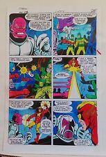 ADVENTURE COMICS 471 PG 15 1980 ORIGINAL PAINTED PRODUCTION ART-STARMAN-ADRIENNE