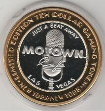 2000 New York NY Millennium MOTOWN Microphone .999 Fine Silver $10 Casino Token