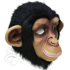 Latex Full Head Jungle Animal Cosplay Chimpanzee Fancy Prop Carnival Party Mask