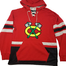 Chicago Blackhawks Mens Large CCM Red Hoodie Sweatshirt