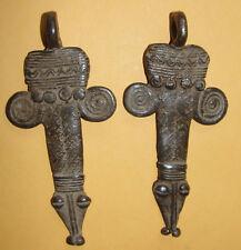 African Lobi  Bronze Turtle Amulet Talisman Pendant Necklace Ashanti AKAN Baule