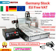 【IT】4-Axis 6040 LPT Mach3 1500W Water Spindle Motor CNC Router Engraving Milling