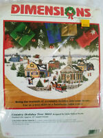 Dimensions Country Holiday Tree Skirt 8577 Counted Cross Stitch CHART ONLY