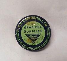 "VINTAGE JEWELERS SUPPLIES TIN - C. & E. MARSHALL CO. CHICAGO 2"""