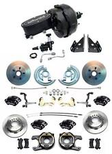 """1964-1972 Chevelle A Body Wilwood Front Rear Disc Brake Kit 9"""" Dual Booster Kit"""