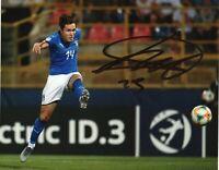 Foto Autografo Calcio Federico Chiesa Asta di Beneficenza Sport Coa Signed
