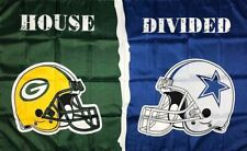 New listing Green Bay Packers vs Dallas Cowboys House Divided Flag 3x5 ft Sports Banner New