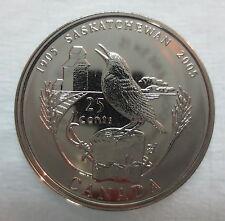 2005P CANADA 25 CENTS SASKATCHEWAN CENTENNIAL QUARTER PROOF-LIKE COIN