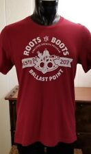 """Ballast Point Brewing Co. """"Root To Boots"""" Employee Brewing Program Red T-Shirt L"""