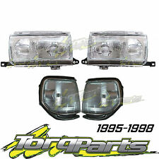 HEADLIGHTS & CORNER LIGHTS SET SUIT TOYOTA LANDCRUISER 80 SERIES SAHARA 95-98