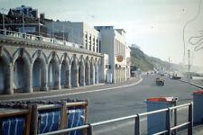 Vintage Kodak Kodachrome Slide Negative, Seaside Beach Hotel Buildings & Road Sc