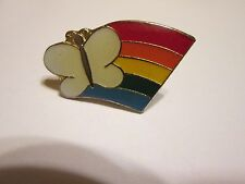 """""""RAINBOW WITH A BUTTERFLY""""....PIN...."""