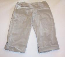 Women's Danskin Now Mid-Rise Rolled Cuff Tan Capri Pants Medium