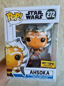 FUNKO POP! STAR WARS #272 AHSOKA (Action Pose) HOT TOPIC EXCLUSIVE + PROTECTOR