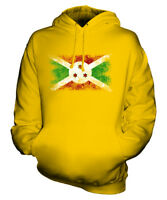 BURUNDI DISTRESSED FLAG UNISEX HOODIE TOP BURUNDIAN  FOOTBALL JERSEY GIFT