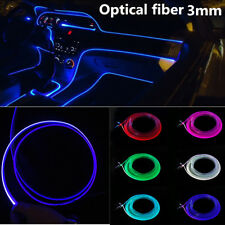 5M 3.0mm Side Glow PMMA Fiber Optic Cable for Car Decoration Atmosphere Light