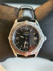 Breitling Callisto Vintage Watch Black Dial Quartz