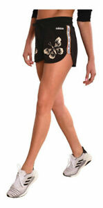 New Adidas Womens FARM Rio Shorts EI4827 Black Butterfly Butterflies Large