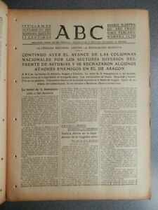 AVANCES ASTURIAS TOMA CAPDEVILA VILLAR PERIÓDICO GUERRA CIVIL 16/10/1937