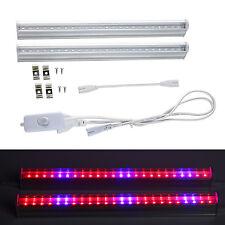 2pcs T5 LED Grow Light Dual Spectrum For Indoor Plants Veg Flower Tube Light