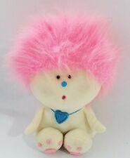 1981 Amtoy Zuzzy American Greetings Plush Toy Pink Wild Hair Stuffed Animal