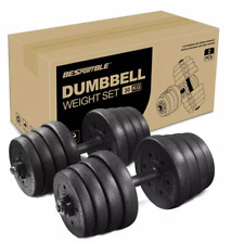 30KG/66LBS Dumbbell Set with Adjustable Plates Full Body Gym