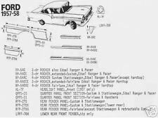 Ford Edsel 2 Door Rocker Panel Extended, Left 57-58