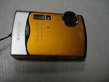 Very Nice Olympus 850 SW 850SW Digital Camera Waterprof Orange