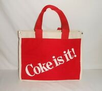 Vintage 1980's Coca-Cola Coke Is It Canvas Tote Bag