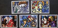 Christmas, stained glass windows stamps, GB, 1992, SG ref: 1634-1638, MNH